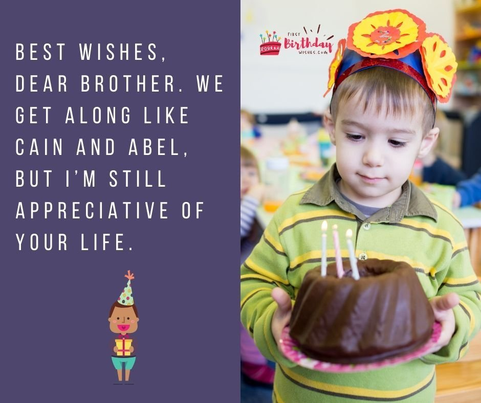 Sarcastic Birthday Wishes for Brother
