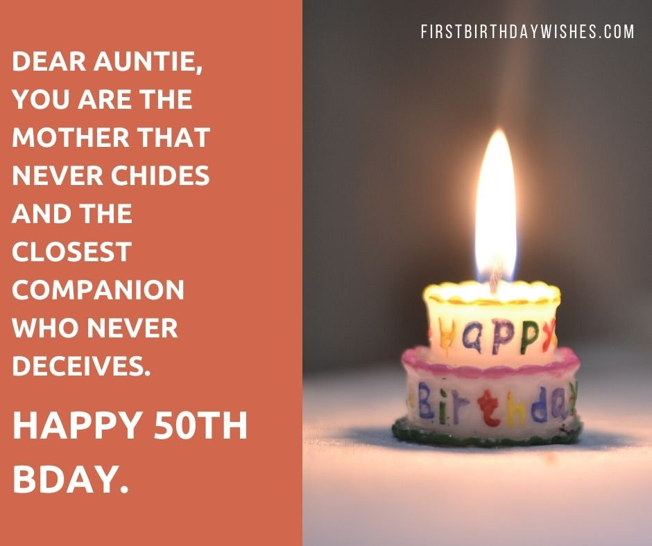 50th Birthday Wishes for Aunt