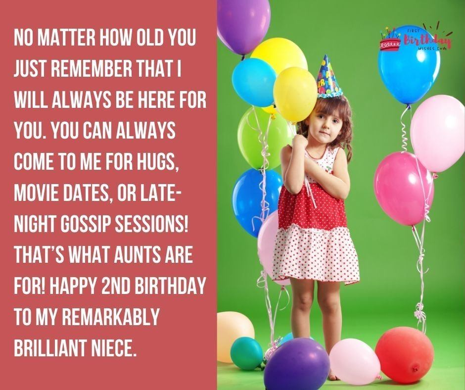 Birthday Wishes for Niece Turning 2