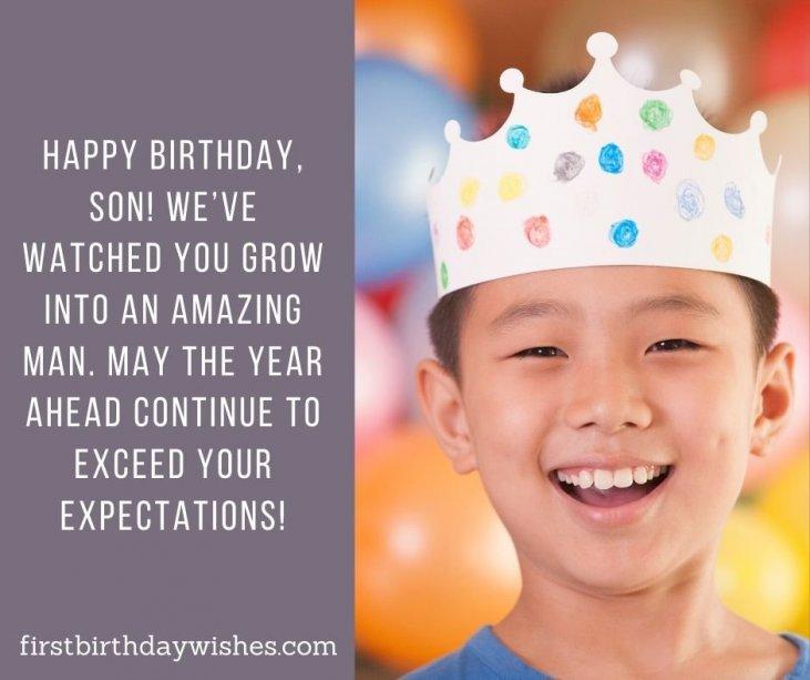 Birthday Wishes For Son Happy Birthday Champ First Birthday Wishes