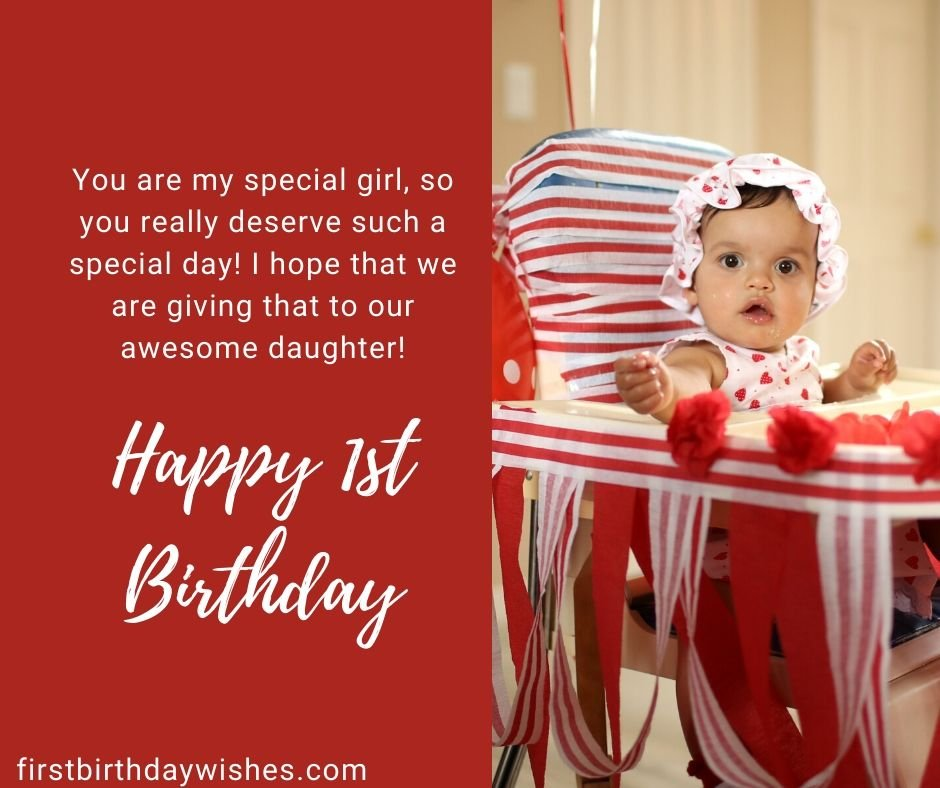 1st Birthday Wishes For Baby Girls