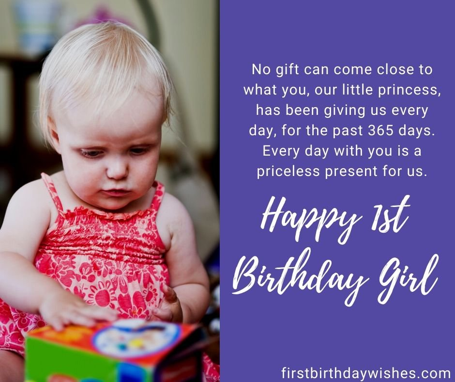 happy 1st Birthday daughter wishes