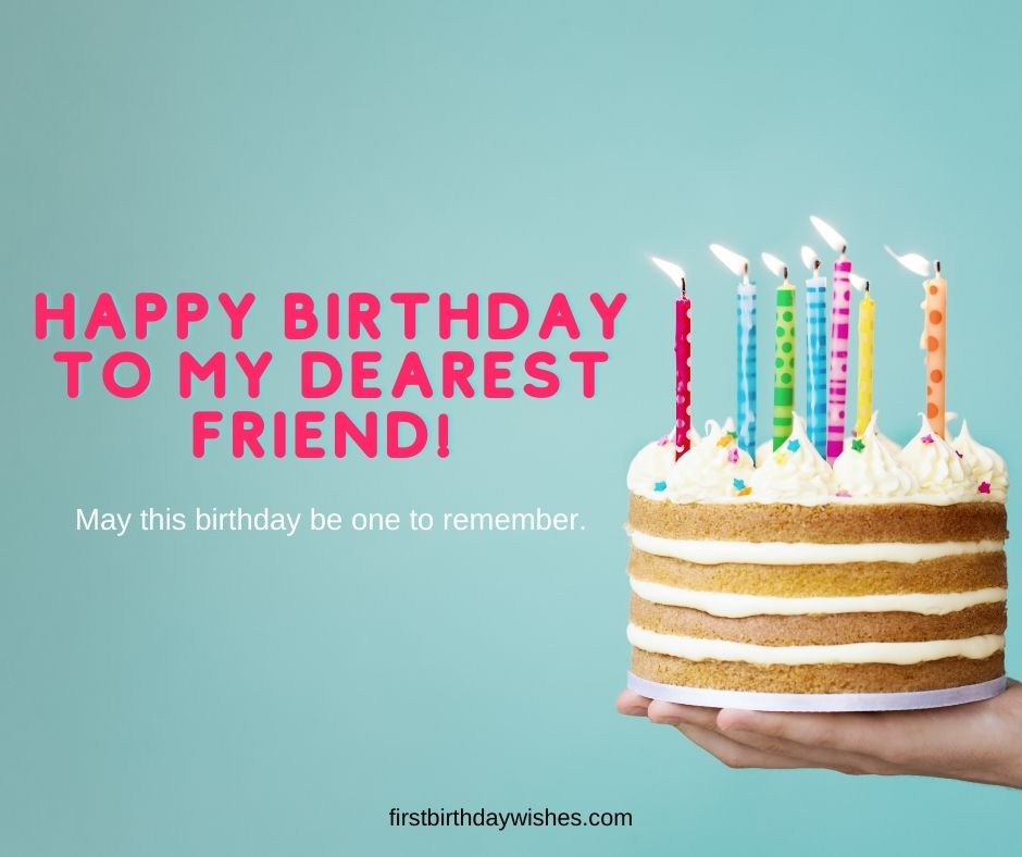 Simple Birthday Wishes for a Friend
