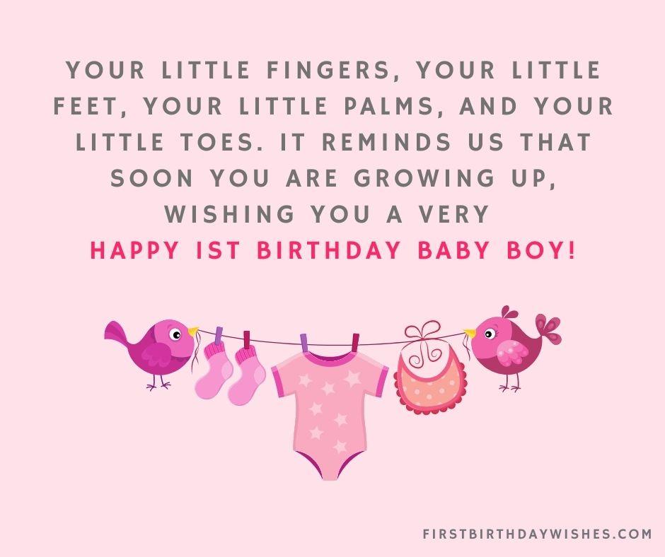 1st Birthday Wishes For Baby Boy