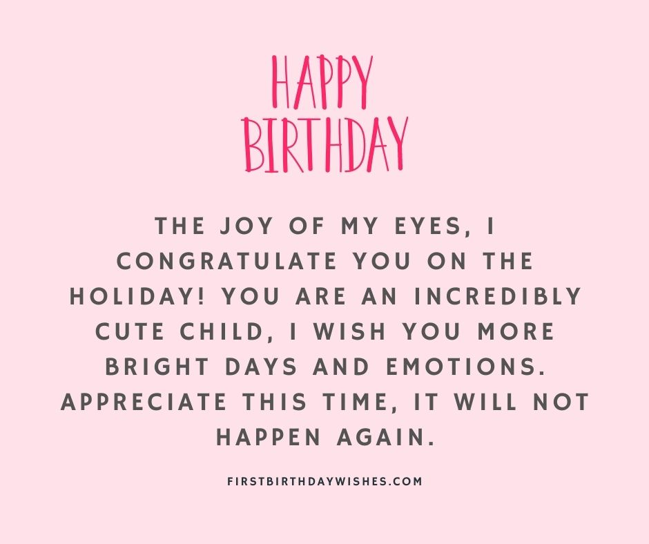 3rd Birthday Wishes for Baby Girl
