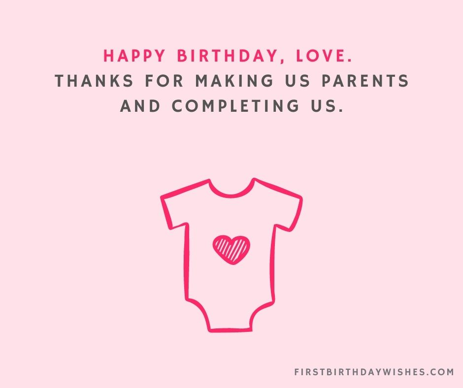 Birthday Wishes for Baby Boy from Parents