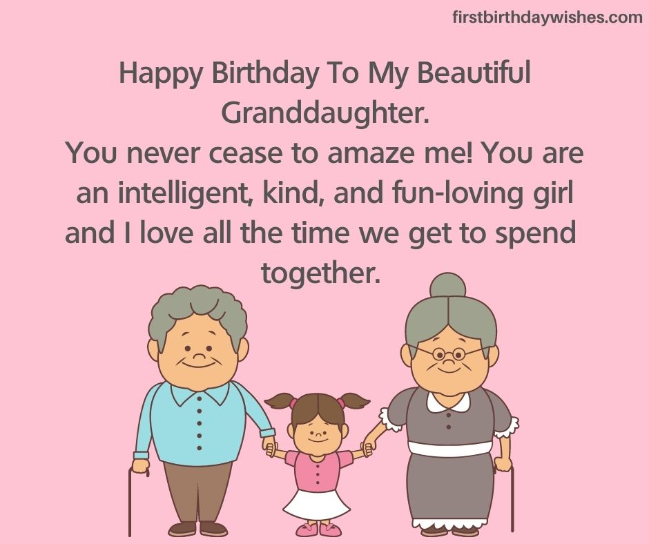 Birthday wishes to Granddaughter