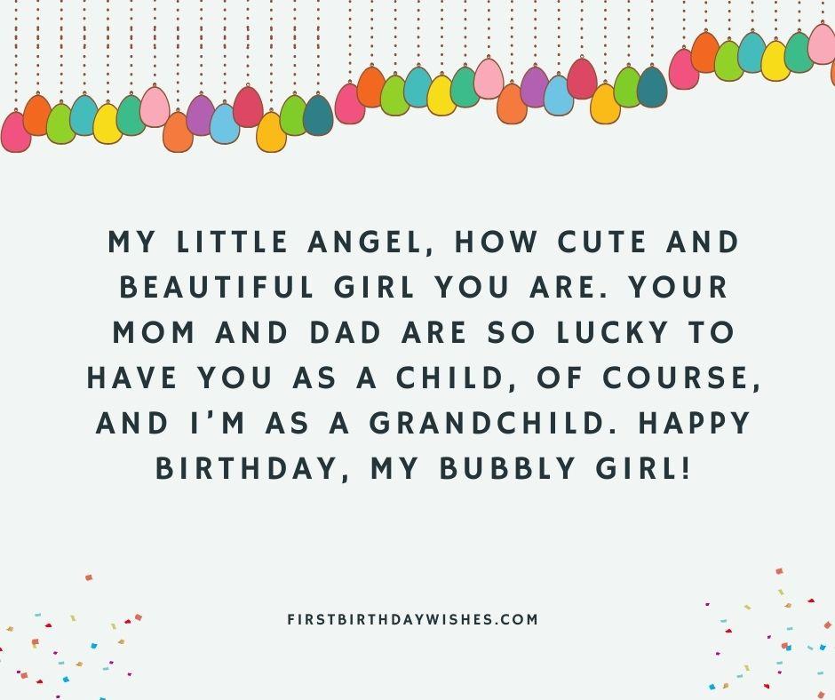 lovely Birthday wishes forGranddaughter