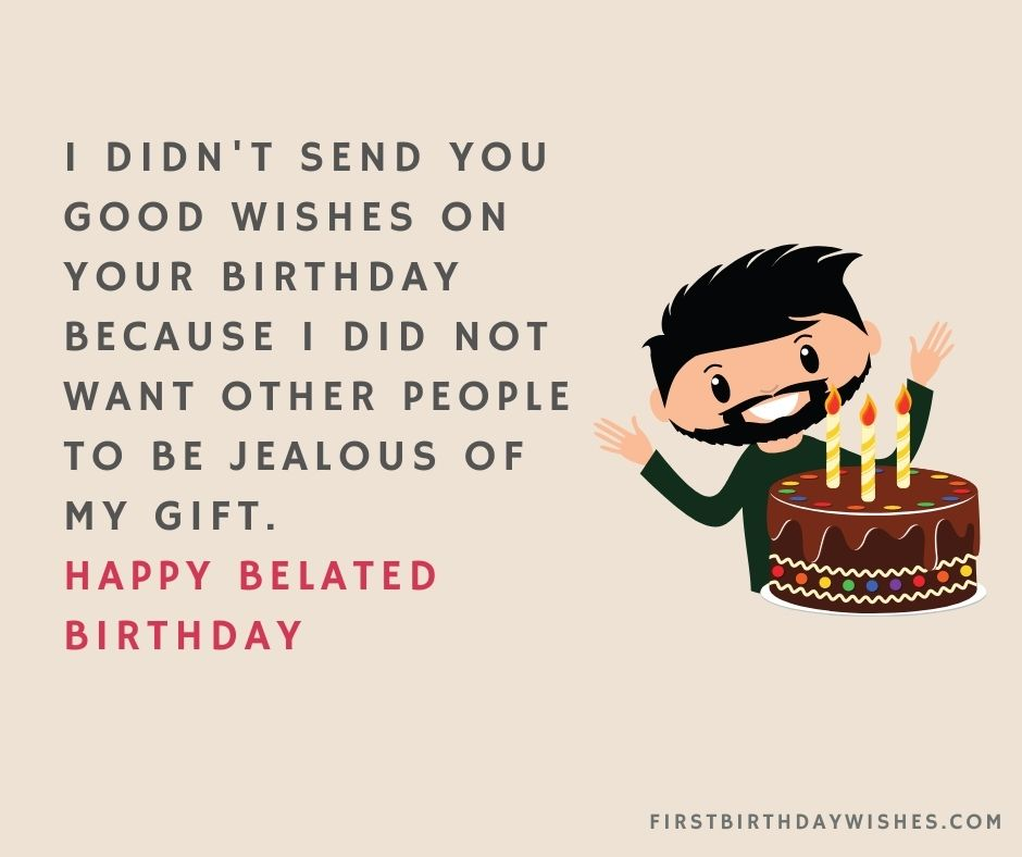 funny belated birthday wishes images