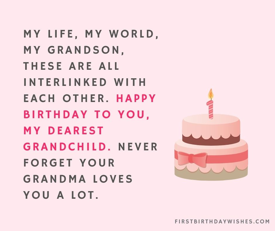 Birthday Wishes For Grandson from grandmother