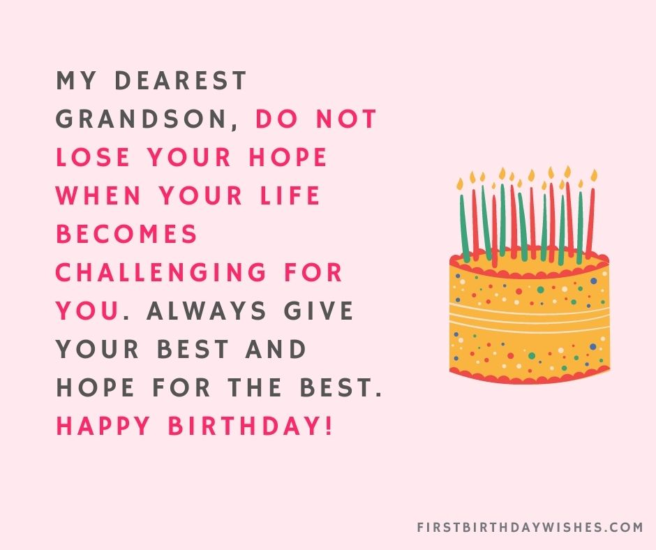 Birthday Wishes For Grandson from grandpa