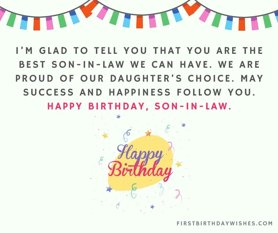 happy birthday wishes for son in law
