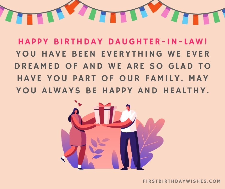 happy birthday wishes for daughter in law