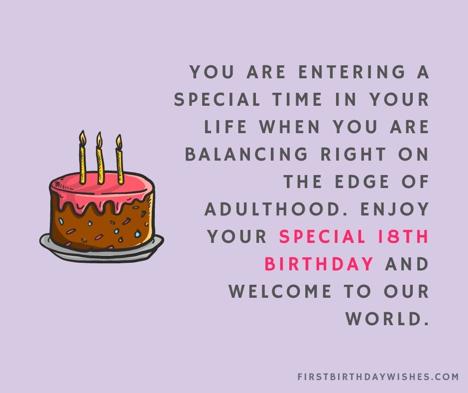18th birthday wishes for son