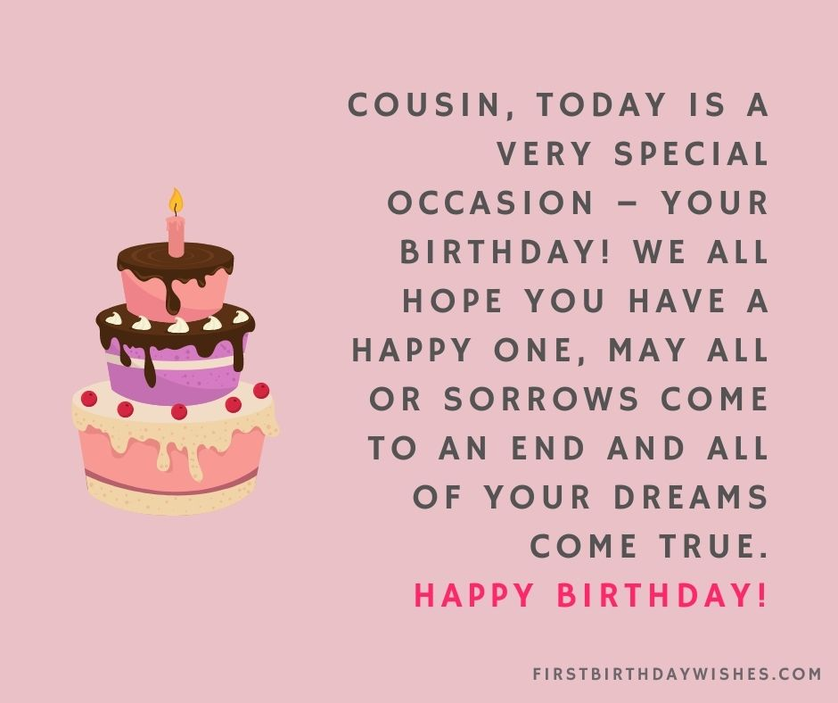 best Birthday Wishes For Cousin Brother