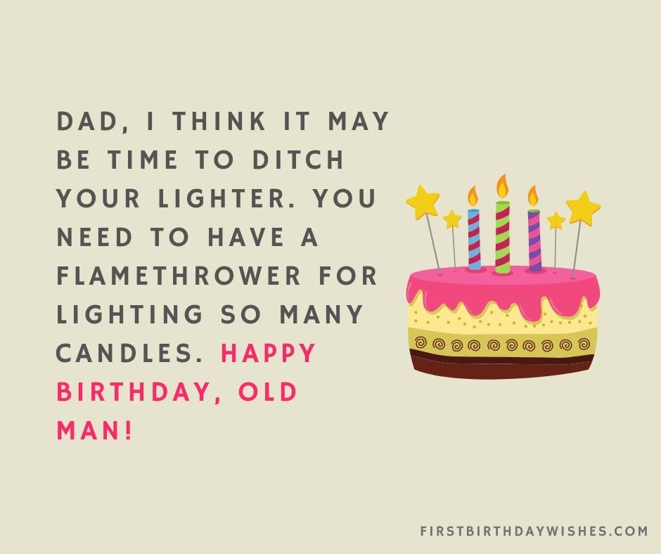 funny birthday wishes for dad