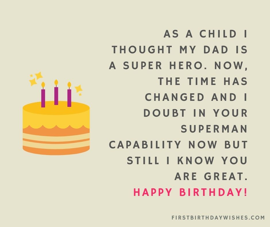 clever birthday wishes for father